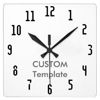 """カスタムで大きい10.75""""習慣的な正方形の柱時計 スクエア壁時計"""