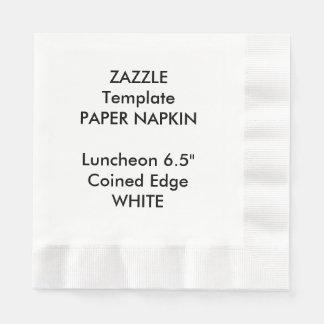 カスタムで大きく白い昼食会の紙ナプキンのテンプレート 縁ありランチョンナプキン