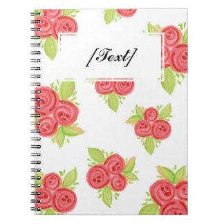 カスタムで小さい赤いバラのノート ノートブック
