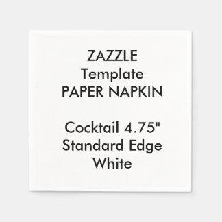 カスタムで小さく白いカクテルの紙ナプキンのテンプレート スタンダードカクテルナプキン