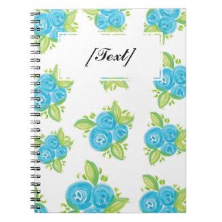 カスタムで小さく青いバラ ノートブック