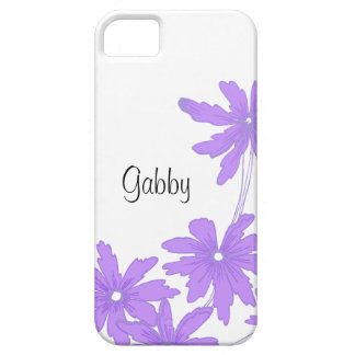 カスタムで明るい紫色のデイジーのiPhone 5の穹窖 iPhone SE/5/5s ケース
