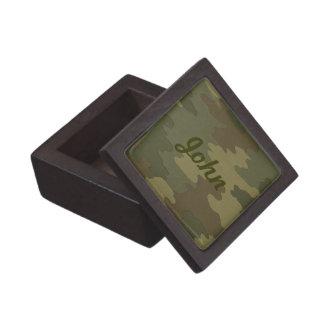 カスタムで暗いカムフラージュの記念品箱 ギフトボックス
