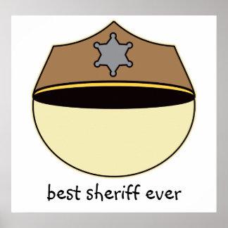 カスタムで最も最高のな保安官 ポスター
