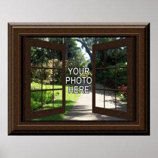 カスタムで模造のな窓ポスターはあなたの写真を加えます ポスター