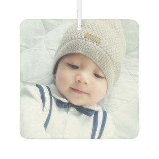 カスタムで生まれたばかりのなベビーの写真との誕生の発表 カーエアーフレッシュナー