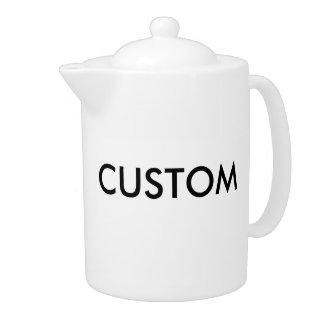 カスタムで白い磁器の大きい44oz茶ポット