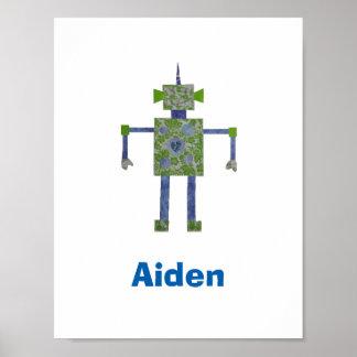 カスタムで芸術品を気取ったなロボットポスター ポスター