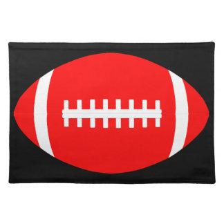 カスタムで赤いアメリカン・フットボールのテーブルのランチョンマット ランチョンマット