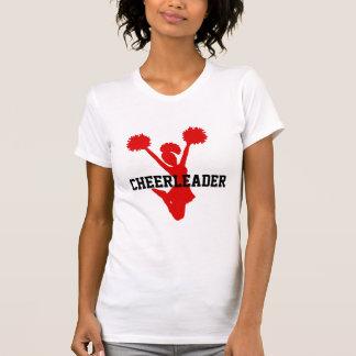 カスタムで赤いチアリーダーのTシャツ Tシャツ