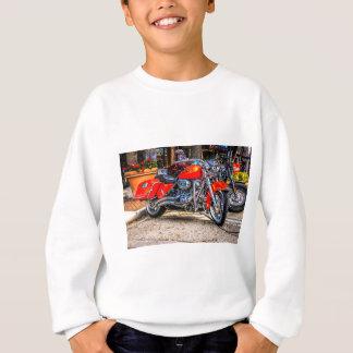 カスタムで赤いブタのオートバイ スウェットシャツ
