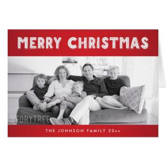 カスタムで赤いメリークリスマスの挨拶状 カード