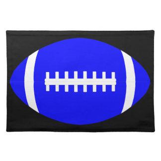 カスタムで青いアメリカン・フットボールのテーブルのランチョンマット ランチョンマット
