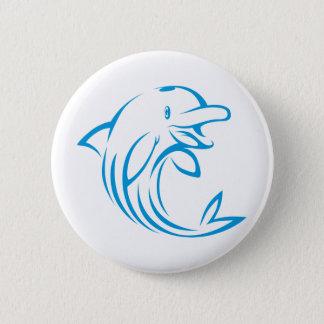 カスタムで青いイルカのロゴ 5.7CM 丸型バッジ