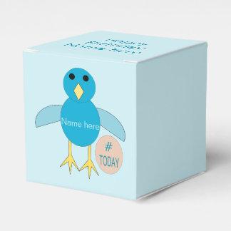 カスタムで青い誕生日の男の子のひよこの好意箱 フェイバーボックス