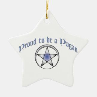 カスタムで青く異教のなプライドの星のオーナメント セラミックオーナメント