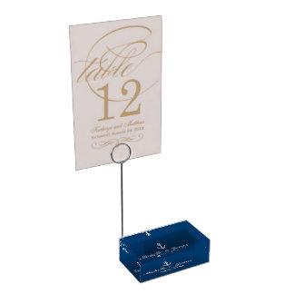 カスタムで青く航海のな結婚式のテーブルの帯出登録者 テーブルカードホルダー