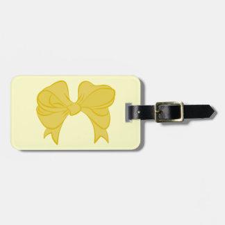 カスタムで黄色い弓荷物のラベル ラゲッジタグ