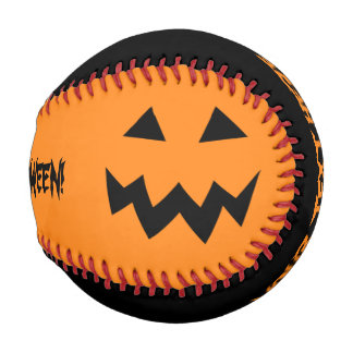 カスタムで黒いおよびオレンジハローウィンパーティの野球 野球ボール