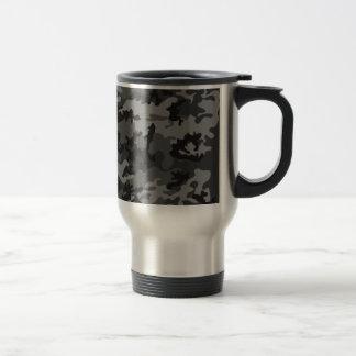 カスタムで黒い迷彩柄のステンレス鋼のタンブラー トラベルマグ