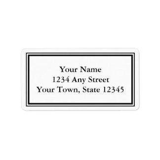 カスタムで黒く及び白い封筒の宛名ラベル ラベル