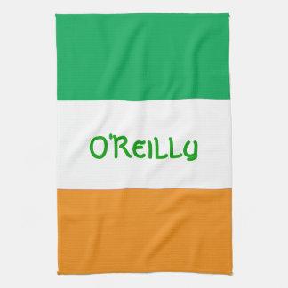 カスタムなアイルランドアメリカの旗の台所タオル キッチンタオル