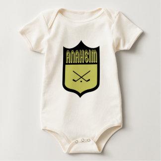 カスタムなアナハイムの盾のロゴ ベビーボディスーツ