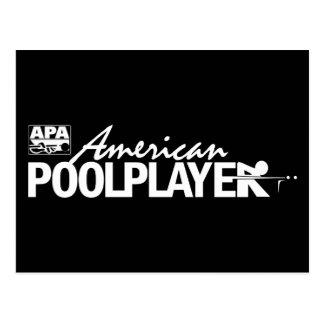 カスタムなアメリカのプールプレーヤー-白 ポストカード