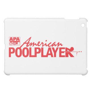 カスタムなアメリカのプールプレーヤー-赤 iPad MINI CASE