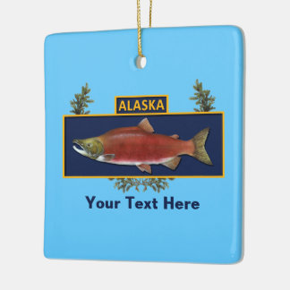 カスタムなアラスカの戦闘の漁師のバッジ セラミックオーナメント