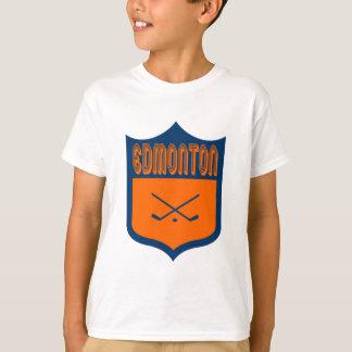 カスタムなエドモントンの盾のデザイン Tシャツ