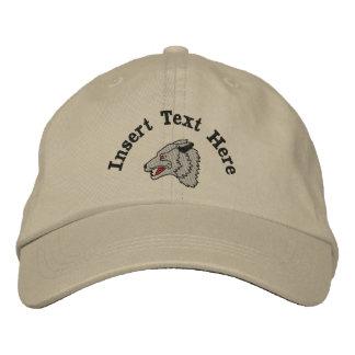 カスタムなオオカミによって刺繍される帽子 刺繍入りキャップ