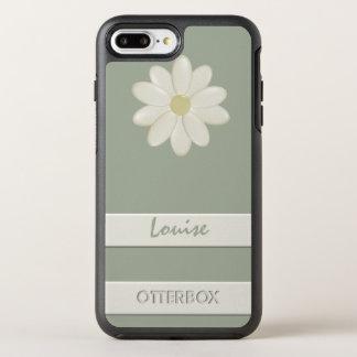 カスタムなオッターボックスのiPhone 8のプラスのデイジーの花のストライプ オッターボックスシンメトリーiPhone 8 Plus/7 Plusケース