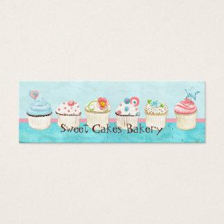 カスタムなカップケーキの甘い専門店の名刺 スキニー名刺