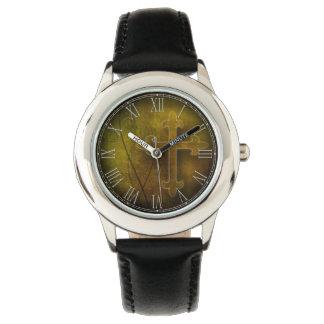 カスタムなキリスト教の神のギフトの十字 腕時計