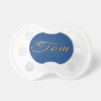 カスタムなギフトと決め付けられるトムの名前入りな名前 おしゃぶり