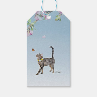 カスタムなギフトはTabathaの虎猫を特色にすることに付けます ギフトタグ