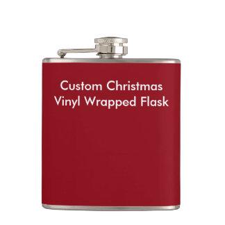 カスタムなクリスマスのビニールの包まれたなフラスコ フラスク
