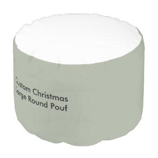 カスタムなクリスマスの大きいラウンドパフ プーフ