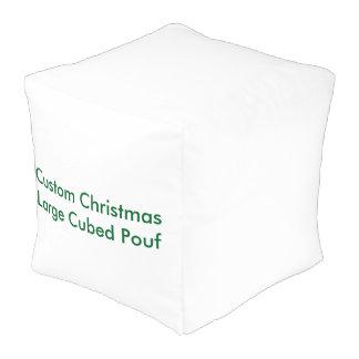 カスタムなクリスマスの大きい立方体にされたPouf プーフ