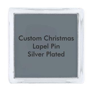 カスタムなクリスマスの正方形のラペルピンは、めっきされて銀を着せます シルバー ラペルピン