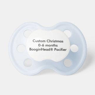 カスタムなクリスマス調停者0-6か月のBooginHead®の おしゃぶり