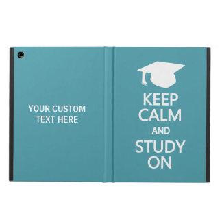 カスタムなケースの平静及び勉強を保って下さい iPad AIRケース