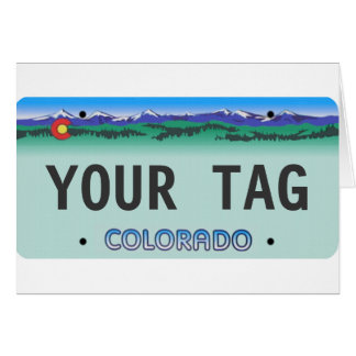 カスタムなコロラド州のナンバープレート カード