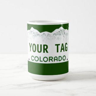 カスタムなコロラド州のナンバープレート コーヒーマグカップ