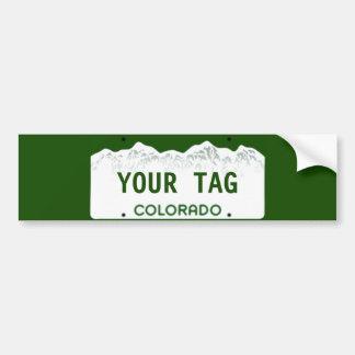 カスタムなコロラド州のナンバープレート バンパーステッカー