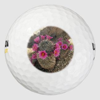 カスタムなゴルフ・ボールのピンクのサボテンの花 ゴルフボール