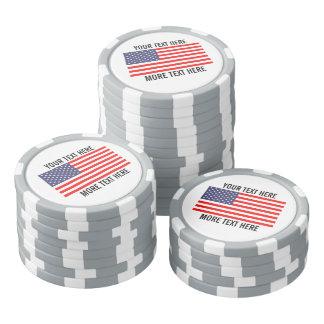カスタムなゴルフ・ボールのマーカー-愛国心が強い米国旗 ポーカーチップ