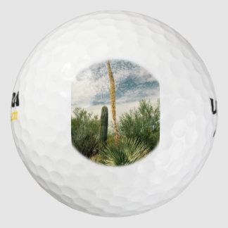 カスタムなゴルフ・ボールの砂漠場面 ゴルフボール