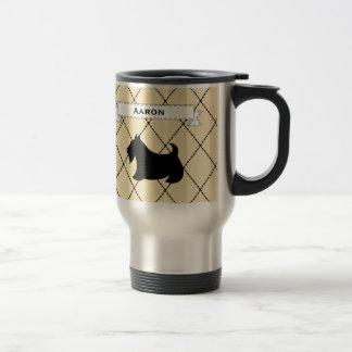 カスタムなスコットランドテリア旅行コーヒー・マグのギフト トラベルマグ